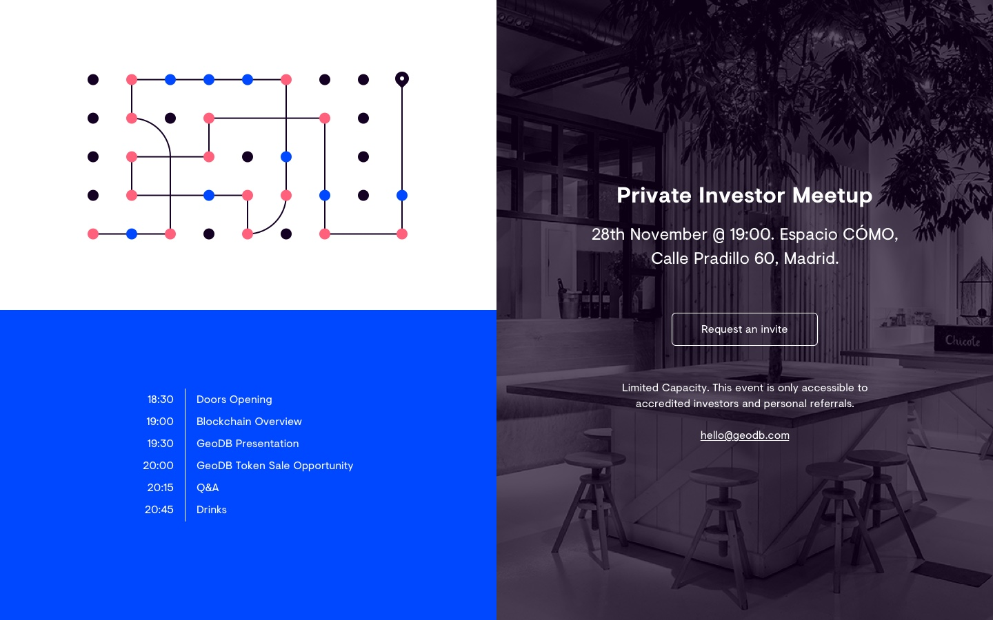 Geo Data Block. Private Investor Meetup.